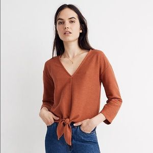 Madewell texture & thread tie front top